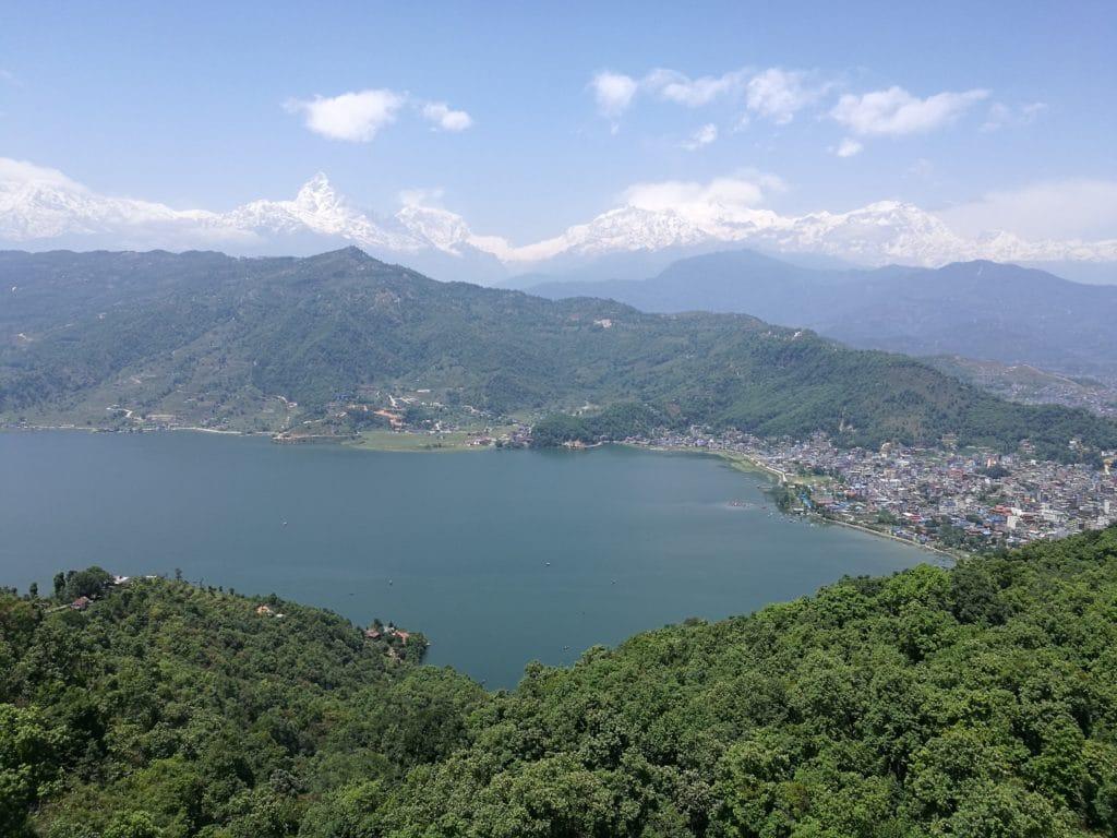 Pokhara von oben