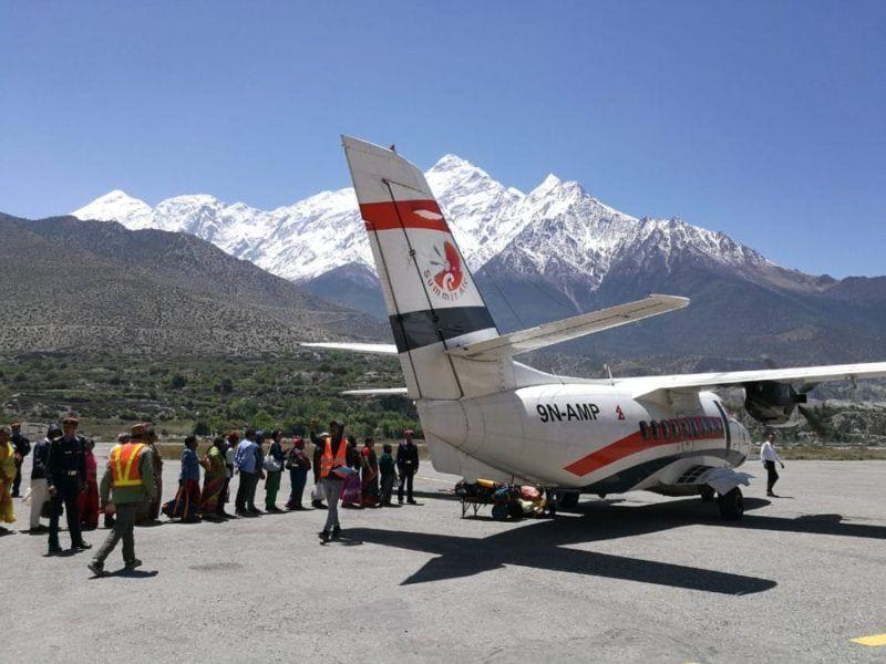 Flughafen Jomsom Nepal