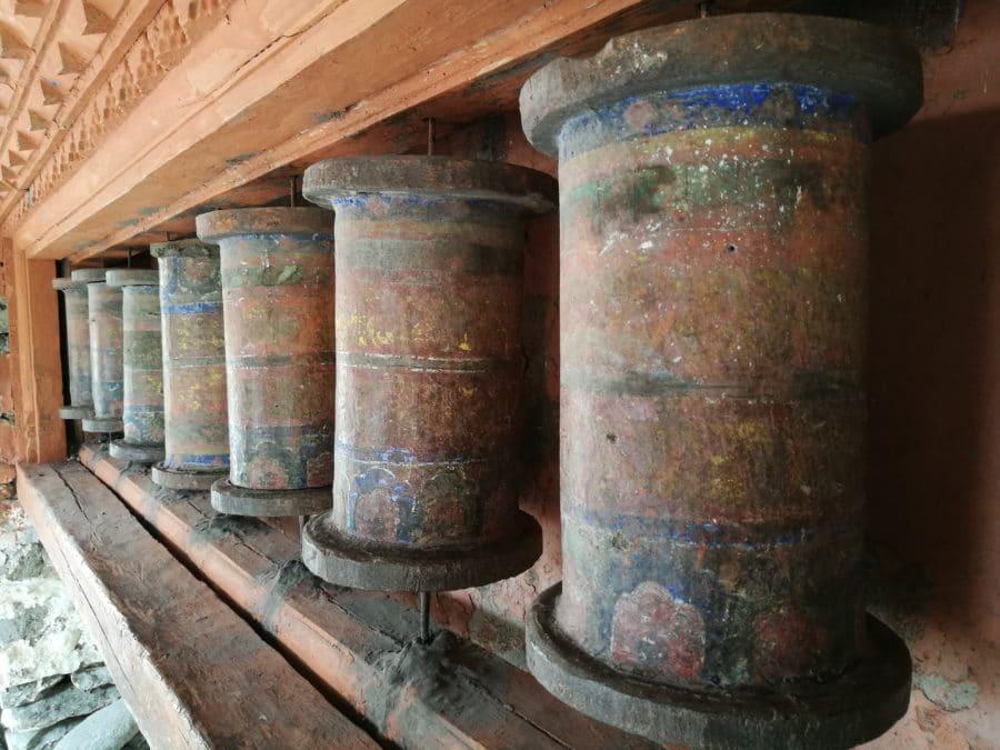 tibetische Gebetsmühlen in Nepal